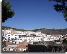Sierra Lucar and village in the Estancias mountains