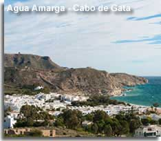 Agua Amarga coastline in the Cabo de Gata Spain