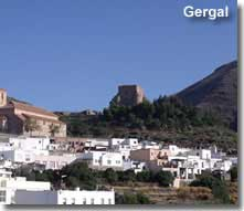 Gergal castle on the GR148 walking route in Andalucia