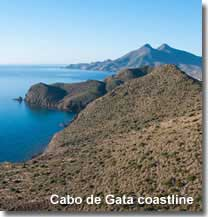 Cabo de Gata coastline in Spain