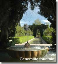 Fountain and gardens of the Generalife