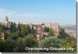The Alhambra overlooking Granada city