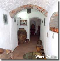 Wine cellar at the Cave Museum in Guadix