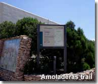 Starting point of the Las Amoladeras walking route of Cabo de Gata