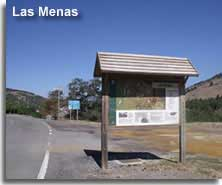 Signpost placard of Las Menas viilage in the Sierra de los Filabres
