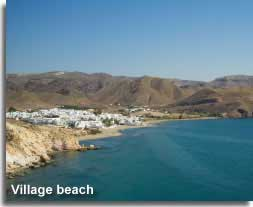 traditional village and resort beach in the Cabo de Gata