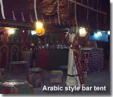Arabic styled bar tent in medieval village