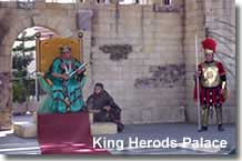 King Herod in his palace on the village plaza
