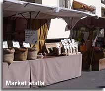 Market stalls of the Los Gallardos Fiesta