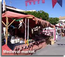 Medieval market at the Los Gallardos January fiesta