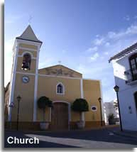 Los Gallardos village church and square