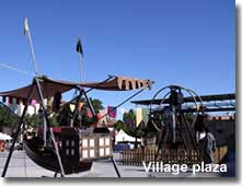 Medieval Fair on village square in Los Gallardos