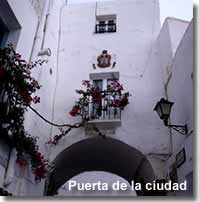 Old city entrance archway in Mojacar village