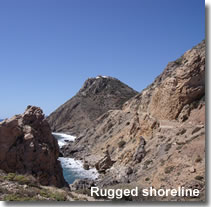 Mojacars rugged shoreline