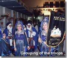 Moorish costumes in the grouping of the troops