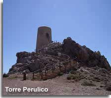 Perulico tower and viewing point along the Mojacar coastline