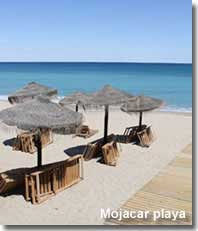 Beach of Mojacar playa holiday resort