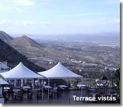 Mojacar terrace with superb valley views