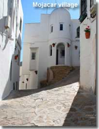 Traditional street in Mojacar pueblo