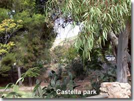 Castala Urban Park in the gador mountains of Almeria