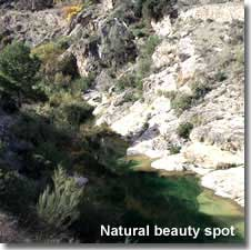 Natural beauty spot in the mountains of Almeria