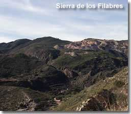 Filabres mountain landscape of Andalucia
