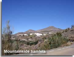 Mountainside hamlet in the Sierra de las Estancias in Almeria