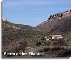 Old farm house in the Sierra Filabres mountain range in Almeria