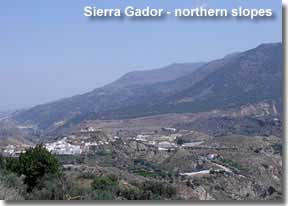 Sierra Gador mountains slopes