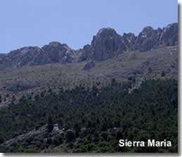 Sierra Maria mountains in Almeria