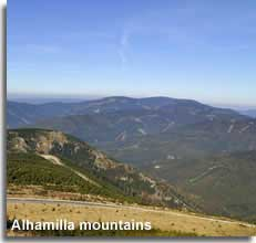 Alhamilla mountain top landscape