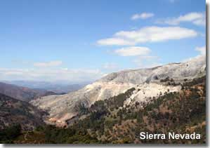 Landscape of the Spanish Sierra Nevada in Andalucia