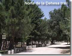 Dehesa walking trail in the Maria Velez Natural Park of Almeria