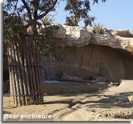 Bear enclosure