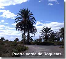 Walking trail of Roquetas de Mar