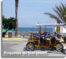 Holiday and beach resort of Roquetas de Mar