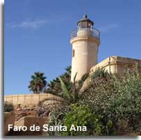 Fara de Santa Anna lighthouse in Roquetas
