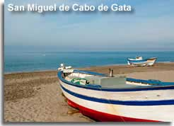 Fishing boat on Playa San Miguel de Cabo de Gata