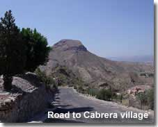 Mountain road in Sierra Cabrera