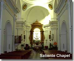 Interior of the Saliente Chapel