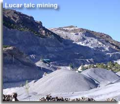 Talc mining in the Sierra de Lucar