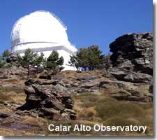 Calar Alto Observatory in the Filabres mountains of Almeria