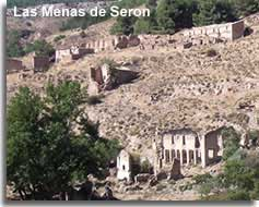 Abandoned village of Las Menas in the Sierra de los Filabres in Almeria