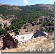 Mines and ruins of Las Menas village in the Filabres mountains of Almeria
