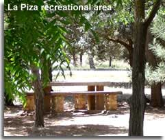 Recreational area La Piza in the woodlands of Sierra Maria in Almeria