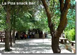 Snack bar in the forest of Sierra Maria