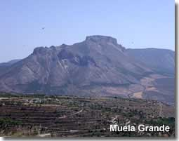 Muela Grande mountain in the Sierra Maria Natural Park in Spain