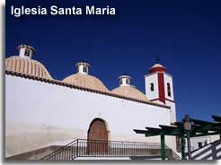 Santa Maria church in Somontin village in the Estancias mountains of Almeria
