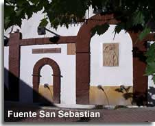 San Sebastian fountains in Somontin village in the Sierra de Lucar