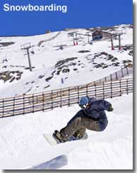 Snowboarding in the Spanish Sierra Navada Andalucia
